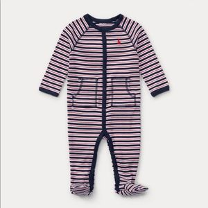 Other - Navy Blue and Red Striped Ralph Lauren Sleeper